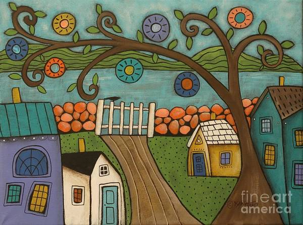 Wall Art - Painting - Gate To Sea by Karla Gerard