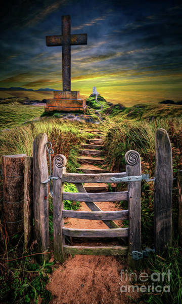 Wall Art - Photograph - Gate To The Holy Island  by Adrian Evans