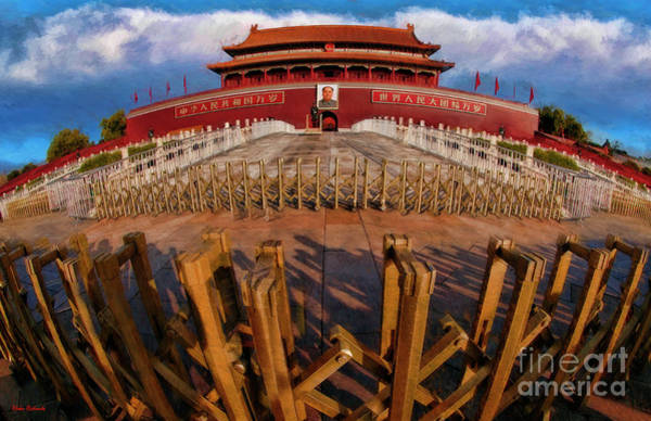Photograph - Gates Around Outer Court Of The Forbidden City by Blake Richards