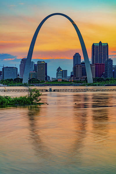 Photograph - Gateway Arch Sunset - Saint Louis Missouri by Gregory Ballos