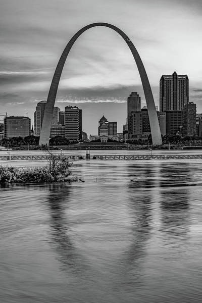 Wall Art - Photograph - Gateway Arch Sunset - Saint Louis Missouri Infrared Monochrome by Gregory Ballos