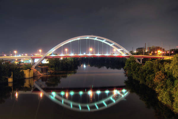 Cumberland Photograph - Gateway Bridge In Nashville by Todd Landry Photography