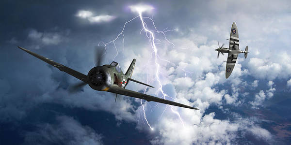 Royal Air Force Digital Art - Gathering Storm - Cropped by Mark Donoghue