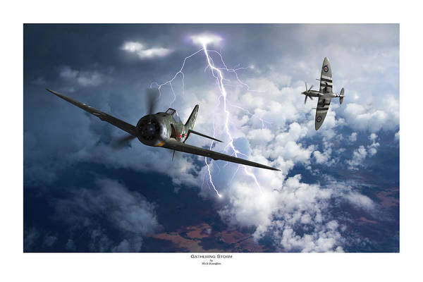 Royal Air Force Digital Art - Gathering Storm - Titled by Mark Donoghue