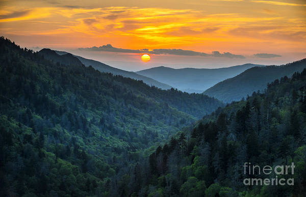 Remote Photograph - Gatlinburg Tn Great Smoky Mountains by Dave Allen Photography
