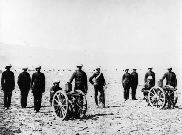 British Armed Forces Photograph - Gatling Guns by Hulton Archive