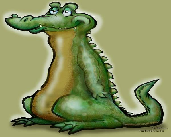 Digital Art - Gator by Kevin Middleton