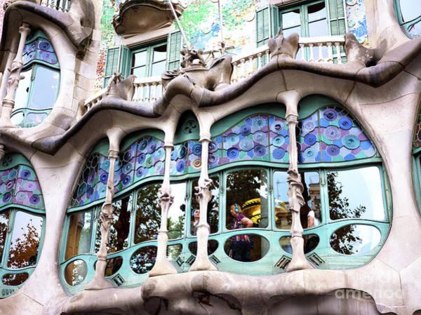 Photograph - Gaudi Bone Window In Barcelona by John Rizzuto