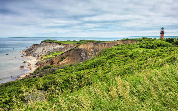 Wall Art - Photograph - Gay Head Lighthouse And Aquinnah Cliffs - Martha's Vineyard by Brendan Reals