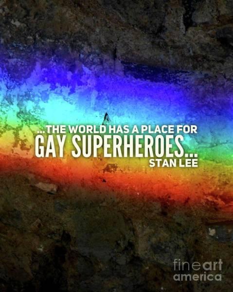 Wall Art - Digital Art - Gay Superheroes by Esoterica Art Agency