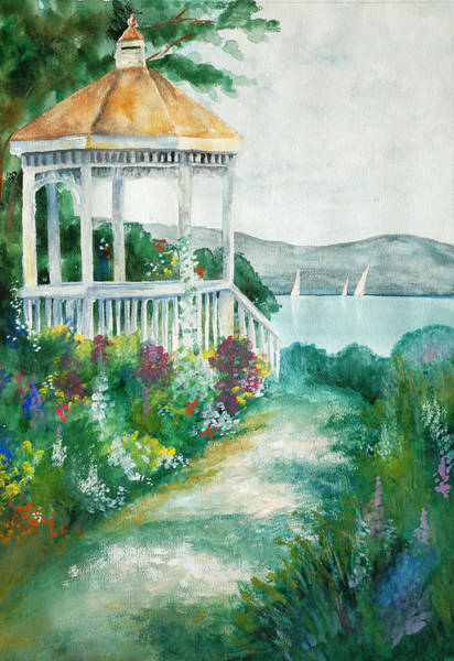 Photograph - Gazebo By The Lake by Perry Correll