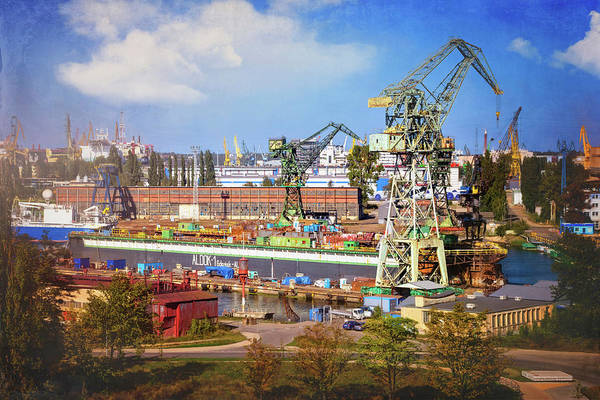 Wall Art - Photograph - Gdansk Shipyard Poland by Carol Japp