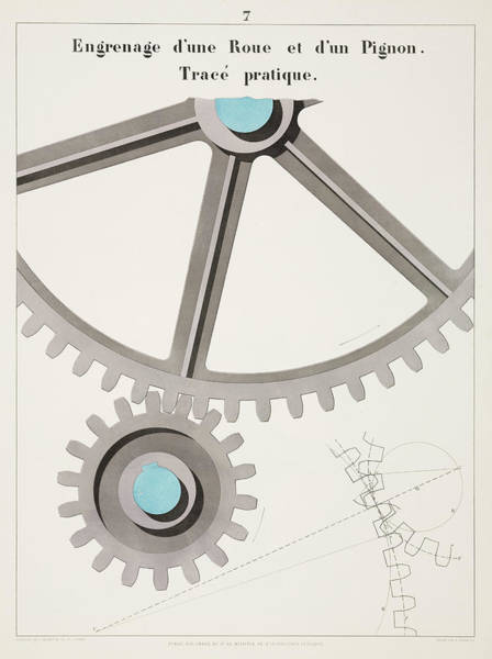 Publication Photograph - Gear With Cogwheels, 1856 by Science & Society Picture Library
