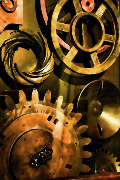 Photograph - Gears And Pulleys by Jack Wilson