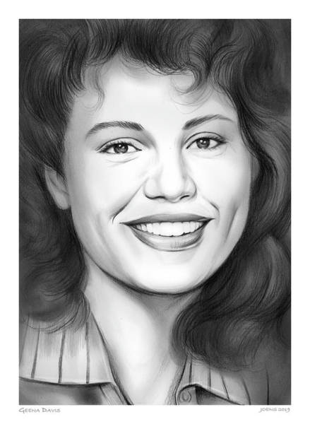 Actress Drawing - Geena Davis by Greg Joens