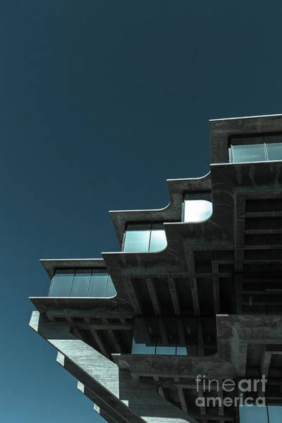 Photograph - Geisel Library Cold Tone by Edward Fielding