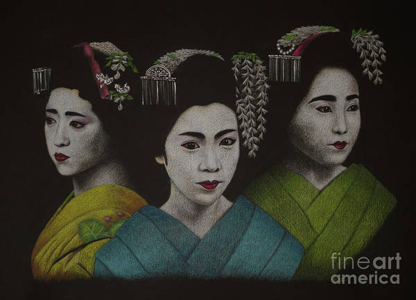 Painting - Geisha Girls by Lisa Bliss Rush
