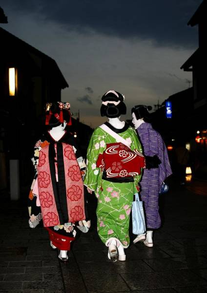 Elegance Photograph - Geisha In Kyoto, Japan On February 02 by Eric Lafforgue