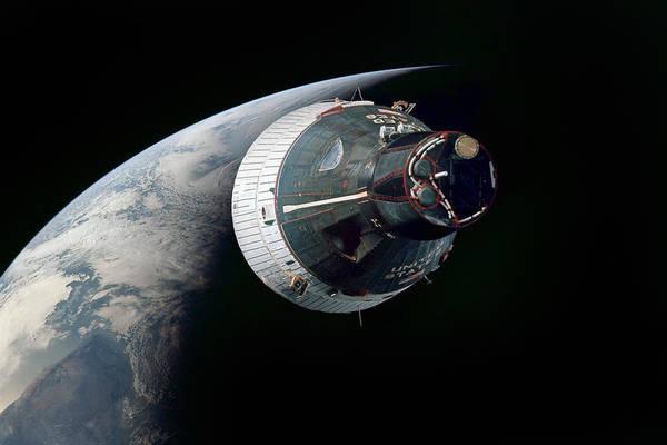 Wall Art - Digital Art - Gemini Earth Rise by Peter Chilelli