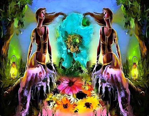 Digital Art - Gemini Twins by Catherine Lott