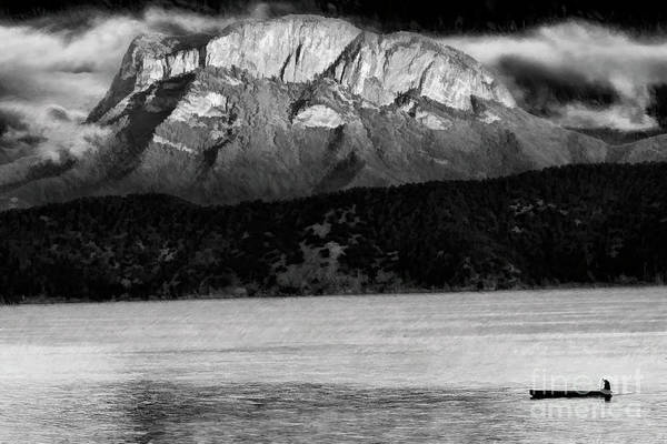 Photograph - Gemu Mountain Lion Mountain Holy Mountain Of Mosuo Lugu Lake Lijiang China  by Blake Richards