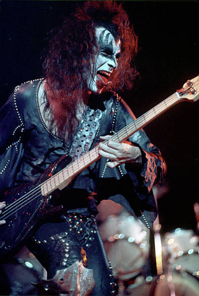 Photograph - Gene Simmons Of Kiss Performing by Michael Ochs Archives