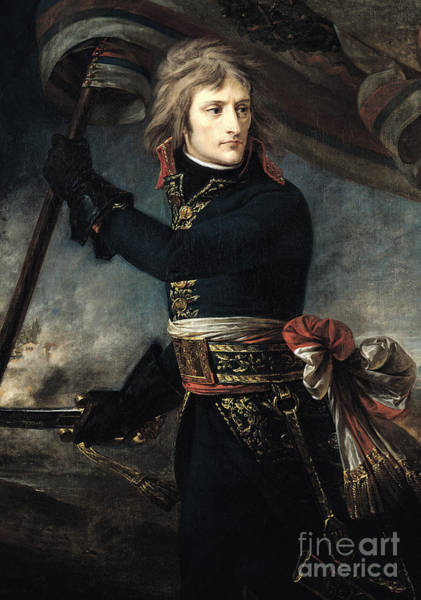 Wall Art - Painting - General Bonaparte On The Bridge At Arcole, 17th November 1796 by Baron Antoine Jean Gros