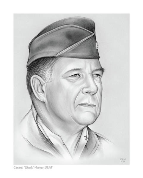 Wall Art - Drawing - General Chuck Horner by Greg Joens
