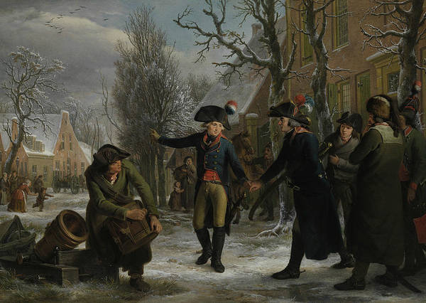 Painting - General Daendels Says Goodbye To Lieutenant Colonel Krayenhoff by Egbert van Drielst