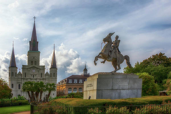 Photograph - General Jackson In Jackson Square by Susan Rissi Tregoning