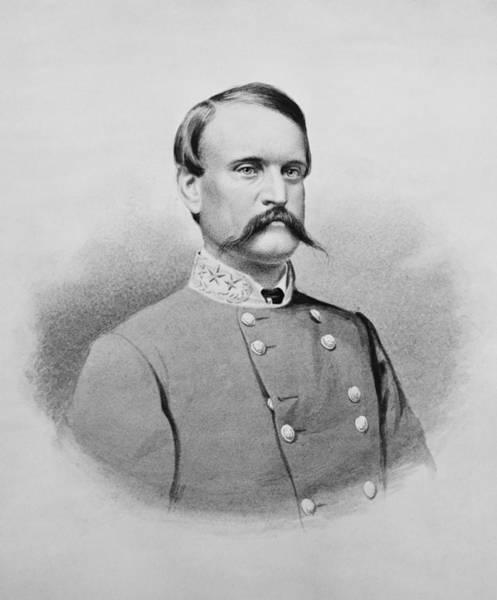 Wall Art - Drawing - General John Breckinridge Portrait - Civil War by War Is Hell Store