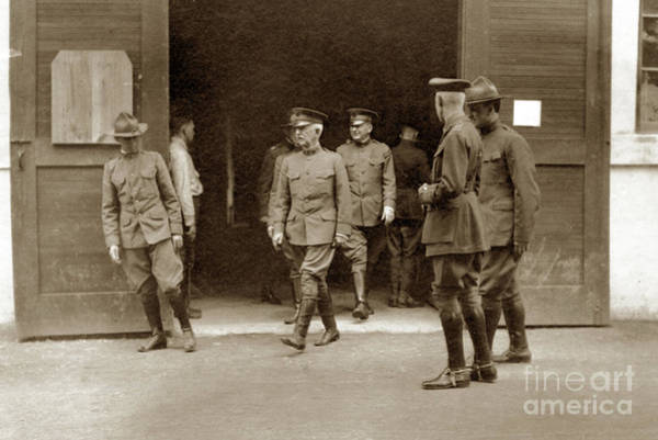 Photograph - General Pershing Visit To Base Hospital 34, U. S. A., Nantes, Fr by California Views Archives Mr Pat Hathaway Archives