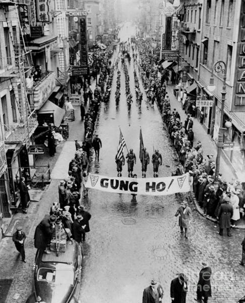 Wall Art - Photograph - General Scene Of A War Bond Parade In by New York Daily News Archive