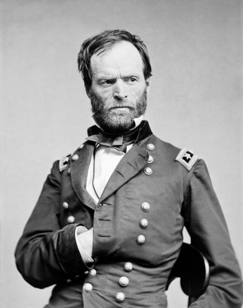 Department Of The Army Wall Art - Photograph - General Sherman - Hand In Coat Portrait by War Is Hell Store