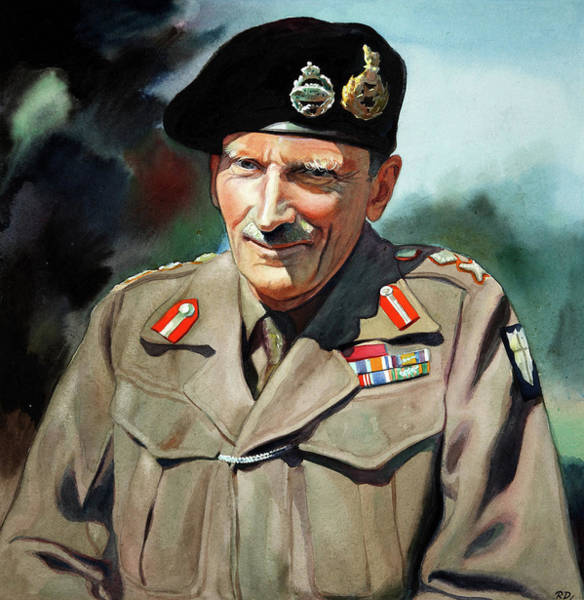 Wall Art - Painting - General Sir Bernard Montgomery by Unknown Artist