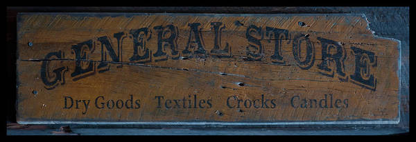 Photograph - General Store Sign by Chris Flees