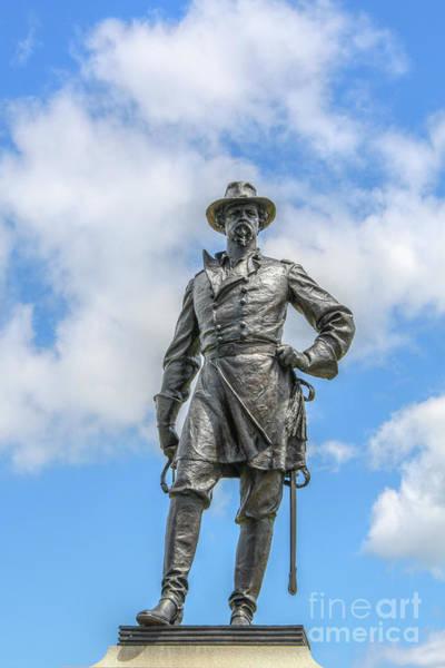 Wall Art - Digital Art - General Webb Monument Gettysburg Battlefield by Randy Steele