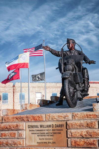 Photograph - General William O. Darby Statue - Downtown Fort Smith Arkansas by Gregory Ballos