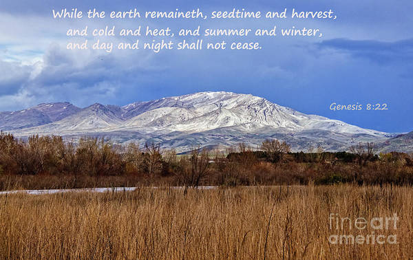Wall Art - Photograph - Genesis 8 Verse 22 by Robert Bales