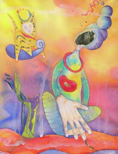 Genie Painting - Genie's Cat by Marie Vuuren