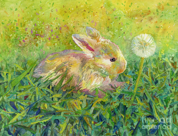 Bunny Rabbit Wall Art - Painting - Gentle Wish by Hailey E Herrera