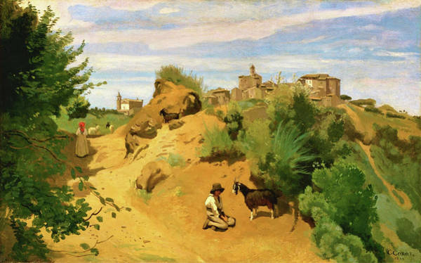 Wall Art - Painting - Genzano - Digital Remastered Edition by Jean-Baptiste Camille Corot