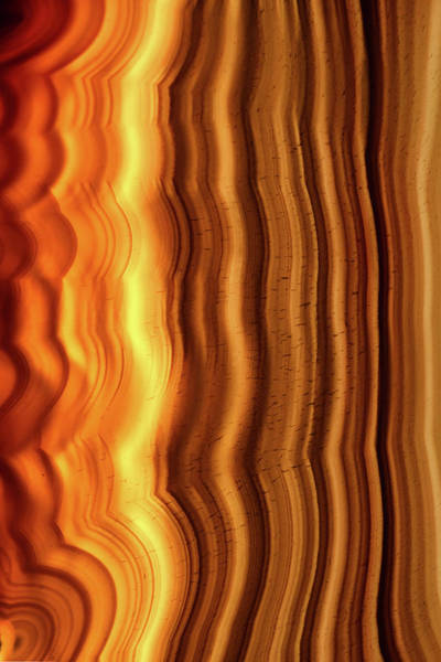 Photograph - Geode Stripes by Christopher Johnson