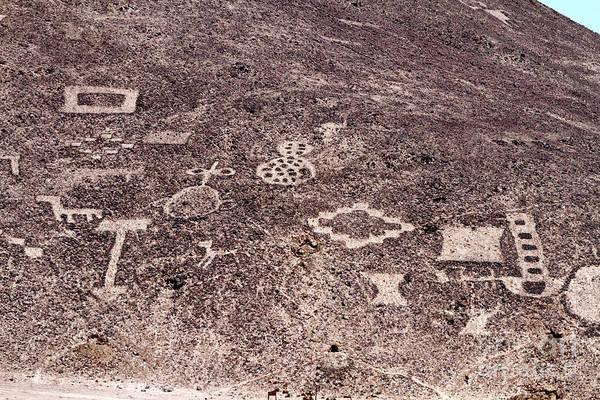 Photograph - Geoglyphs At Cerro Pintados Tarapaca Chile by James Brunker