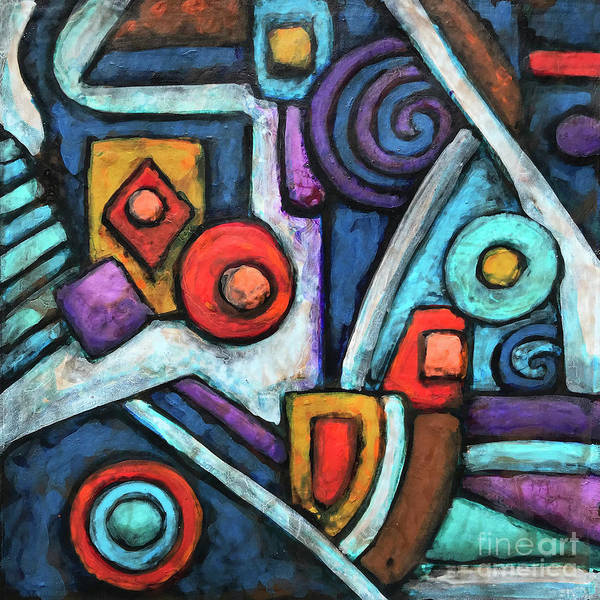 Painting - Geometric Abstract 4 by Amy E Fraser