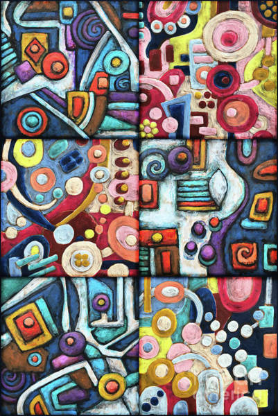 Painting - Geometric Abstract Patchwork by Amy E Fraser
