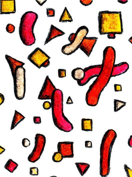 Pastel - Geometric Bacteria by Luke Mitchell