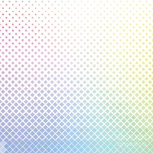 Ethnic Wall Art - Digital Art - Geometric Color Rhombus Pattern by Etcberry
