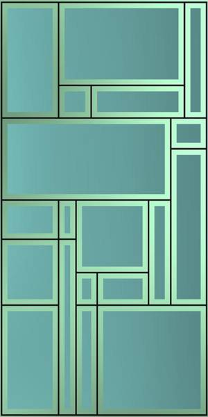 Digital Art - Geometric Composition With Lines, Geometric Shapes And Bright Backligt. by Alberto RuiZ