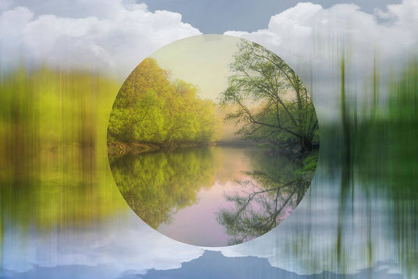 Wall Art - Digital Art - Geometric Dream Landscape by Debra and Dave Vanderlaan